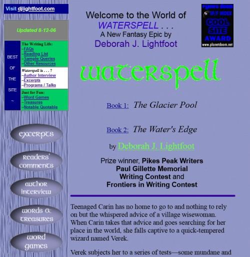 Screenshot old Website
