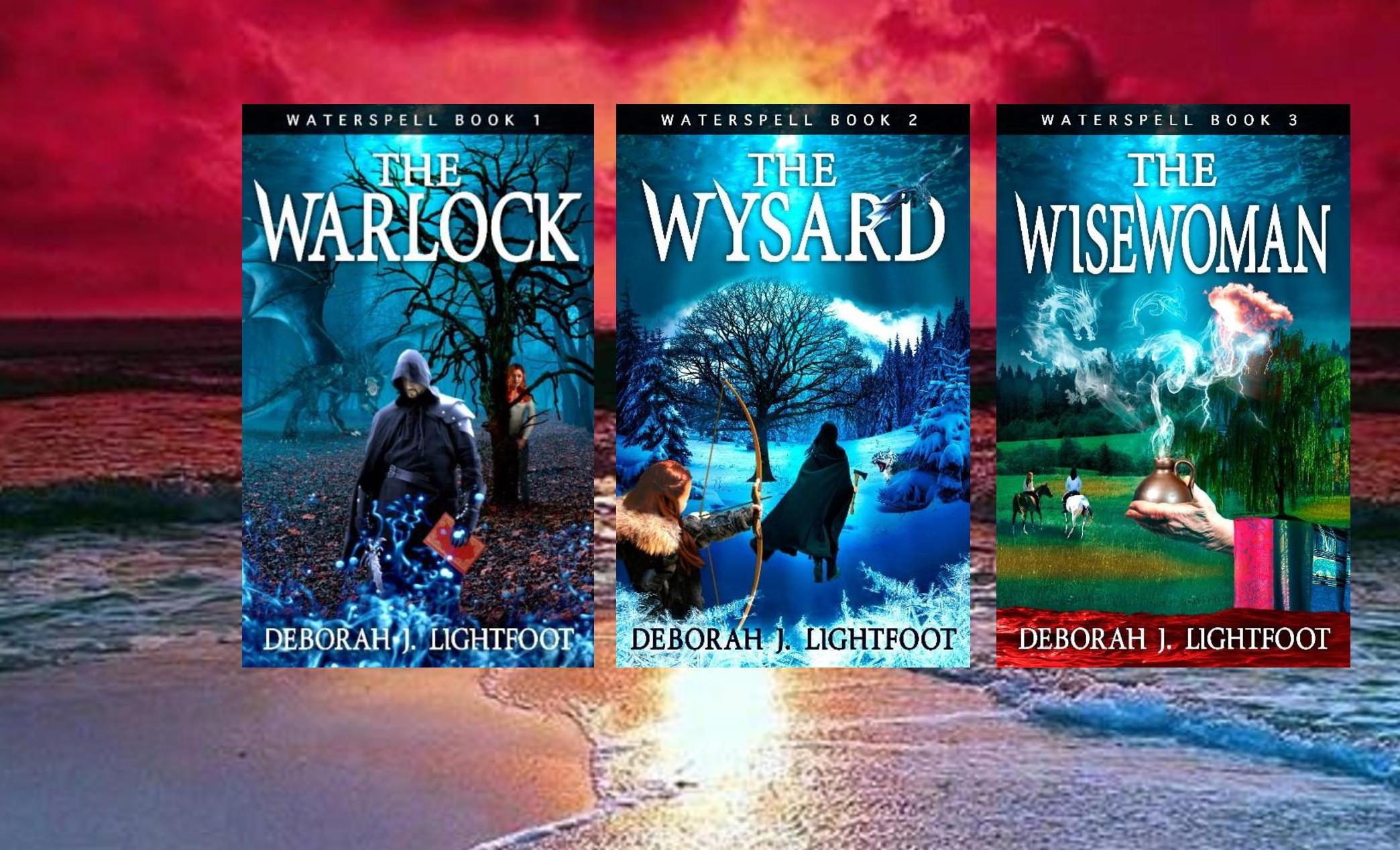 Waterspell, a fantasy trilogy by Deborah J. Lightfoot